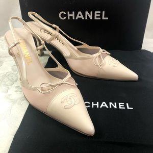 🆕 Chanel CC gorgeous slingback heels